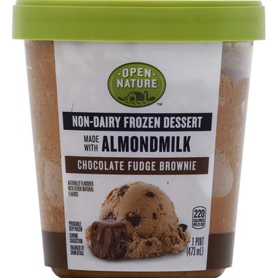 Open Nature Frozen Dessert, Non-Dairy, Chocolate Fudge Brownie