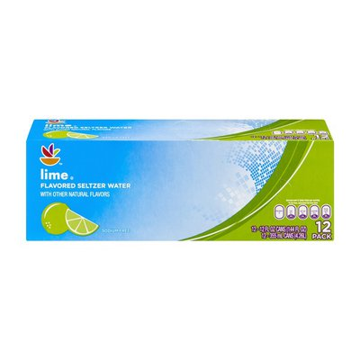 Stop & Shop Seltzer Water, Lime