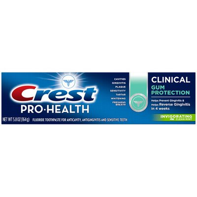 Crest Toothpaste, Fluoride, Gum Protection, Invigorating Clean Mint
