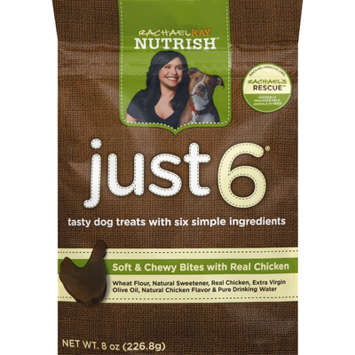 Rachael Ray Nutrish Dog Treats, Soft & Chewy Bites, with Real Chicken
