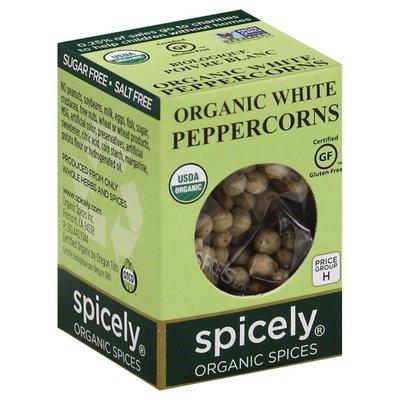 Spicely Organics Peppercorn, White, Organic, Box