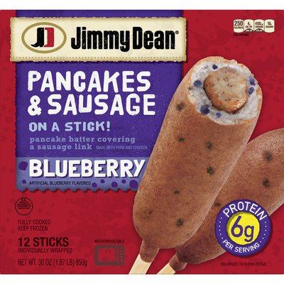 Jimmy Dean Pancakes and Sausage on a Stick, Blueberry, Frozen