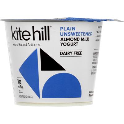 Kite Hill Yogurt, Almond Milk, Dairy-Free, Plain Unsweetened
