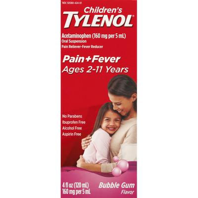 TYLENOL Oral Suspension, Bubblegum