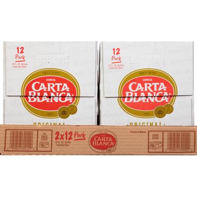 Carta Blanca Beer, Imported, Original