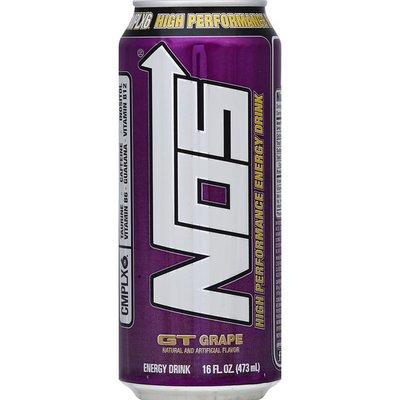 Nos Energy Drink, High Performance, GT Grape