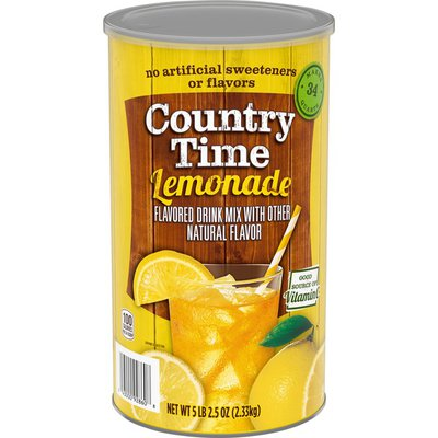 Country Time Lemonade Naturally Flavored Powdered Drink Mix