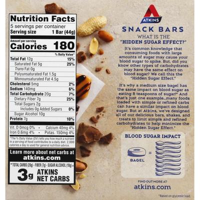 Atkins Snack Bar, Caramel Chocolate Nut Roll