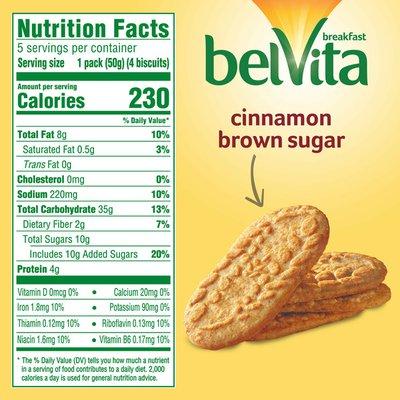 belVita Breakfast Biscuits, Cinnamon Brown Sugar Flavor