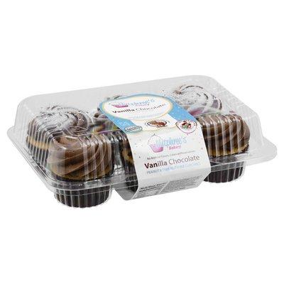 Nutphrees Bakery Cupcakes, Peanut & Tree Nut-free, Vanilla Chocolate