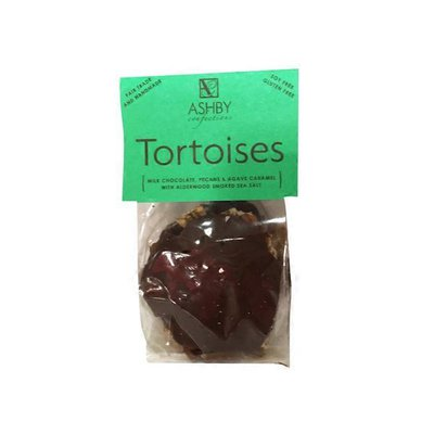 Ashby Confections Milk Chocolate, Pecans & Agave Caramel With Alderwood Smoked Sea Salt Tortoises