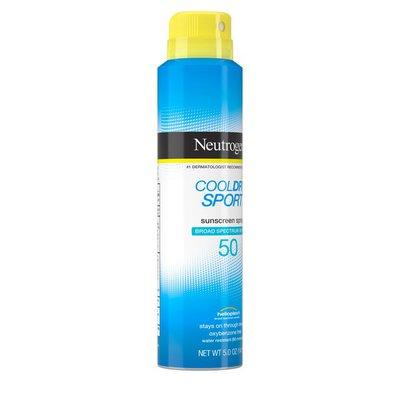 Neutrogena® Cooldry Sport Sunscreen Spray Broad Spectrum SPF 50