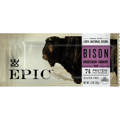 Epic Bison Bacon Cranberry Bar