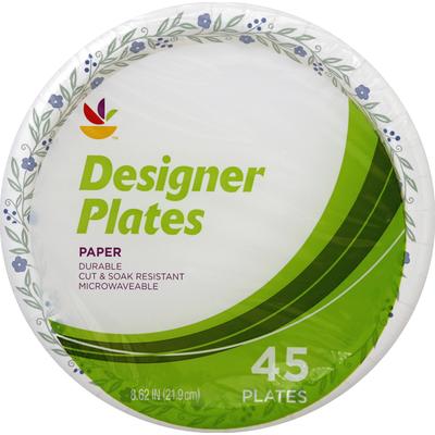 SB Plates, Designer, Paper, 8.62 Inch