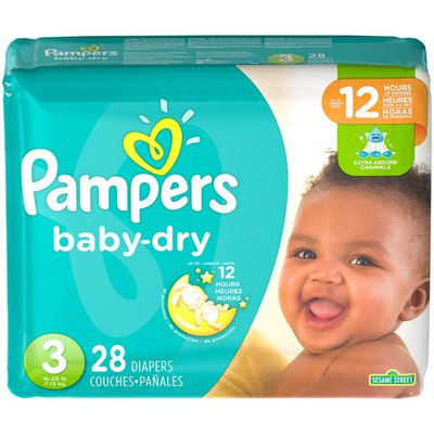 Pampers Baby-Dry Diapers Size 3