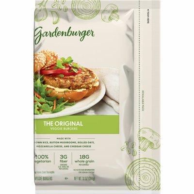 Gardenburger Veggie Burgers, 18 Grams of Whole Grain, Original