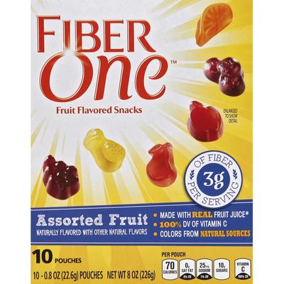 Fiber One Fruit Flavored Snacks, Assorted Fruit