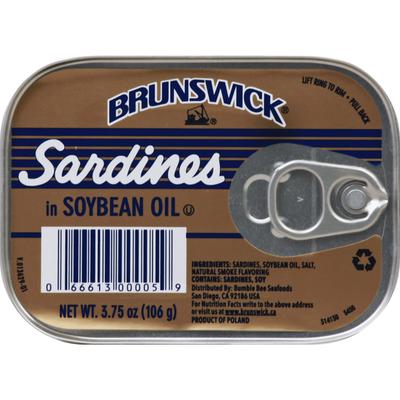 Brunswick Sardines, in Soybean Oil