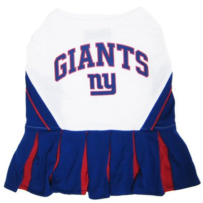 Pets First Extra Small NFL New York Giants Dog Cheerleader Dress