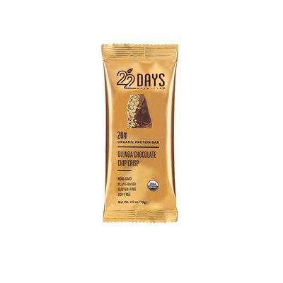 22 Days Protein Bar, Organic, Quinoa Chocolate Chip Crisp