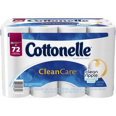 Cottonelle CleanCare 1-Ply Double Rolls Toilet Paper