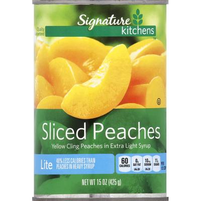 Signature Kitchens Peaches, Sliced, Lite