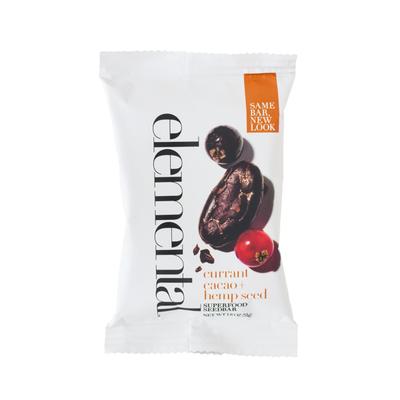 Elemental currant cacao + hemp seed SUPERFOOD SEEDBAR