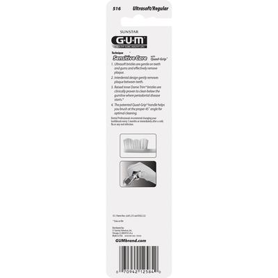 GUM Toothbrush, Ultrasoft Bristles, Regular, Value Pack