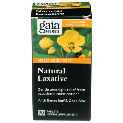 Gaia Herbs Natural Laxative With Senna leaf & Cape Aloe DIGESTIVE SUPPORT HERBAL SUPPLEMENT TABLETS