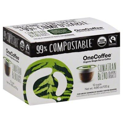 One Coffee Coffee, Organic, Dark Roast, Sumatran Blend, Single Serve Cups