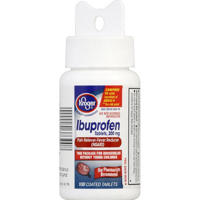 Kroger Ibuprofen, 200 mg, Coated Tablets