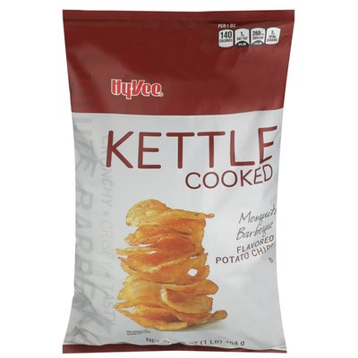 Hy-Vee Kettle Cooked Potato Chips, Mesquite Barbeque