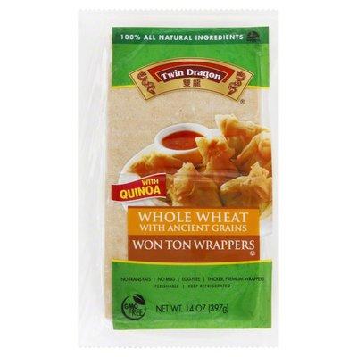 Twin Dragon Won Ton Wrappers, Whole Wheat