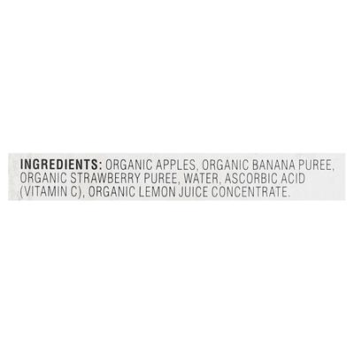 O Organics Apple Sauce, Organic, Banana Strawberry, 4 Pack