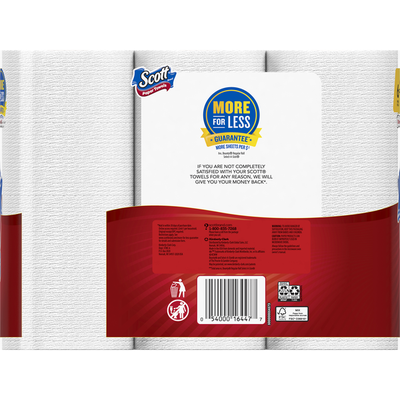 Scott Paper Towels, Mega Rolls, Choose-A-Sheet, One-Ply