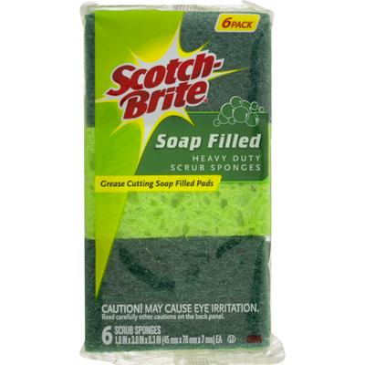 Scotch-Brite Soap Filled Heavy Duty Scrub Sponges