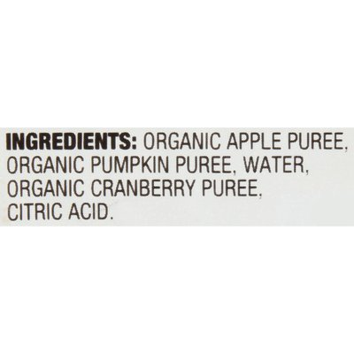 Earth's Best Stage 3 Pumpkin Cranberry Apple Organic Baby Food Puree