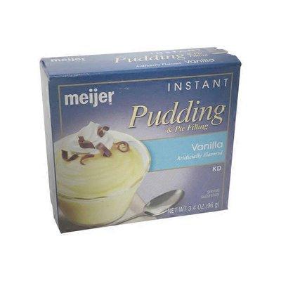 meijer VANILLA FLAVORED instant PUDDING & PIE FILLING