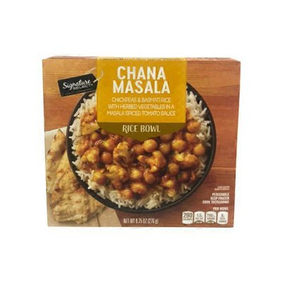 Signature Select Chickpeas & Basmati Rice With Herbed Vegetables In A Chana Masala Spiced Tomato Sauce Rice Bowl