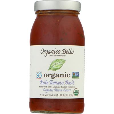 Organico Bello Pasta Sauce, Organic, Kale Tomato Basil