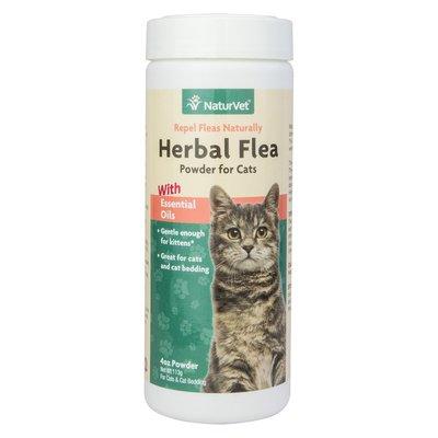 NaturVet Herbal Flea Powder For Cats & Cat Bedding