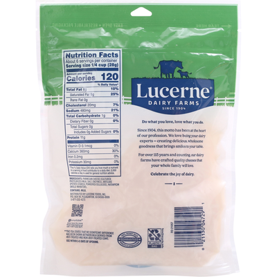 Lucerne Shredded Cheese, Parmesan, Finely