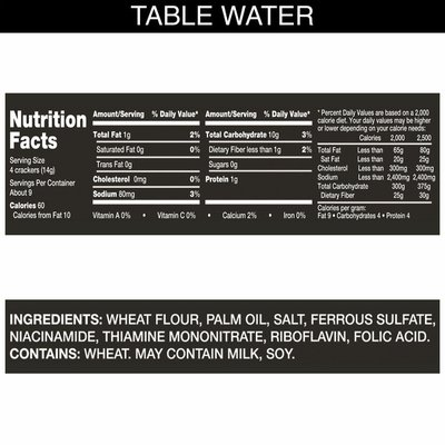 Kellogg's Carr's Table Water Crackers, Baked Snack Crackers, Original
