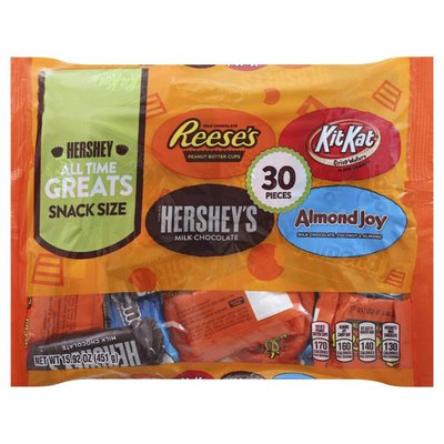 Hershey's Candy, All Time Greats, Snack Size