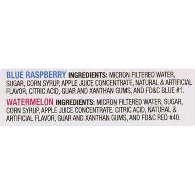 Luigi's Italian Ice, Real, Blue Raspberry/Watermelon