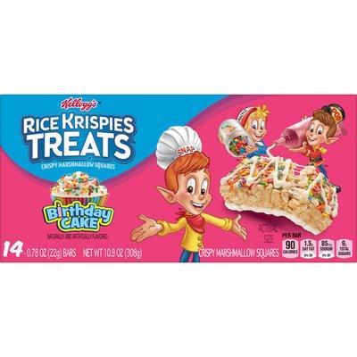 Kellogg's Rice Krispies Treats Marshmallow Snack Bars, Kids Snacks, Birthday Cake