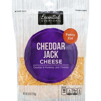Essential Everyday Cheese, Cheddar Jack, Fancy Cut