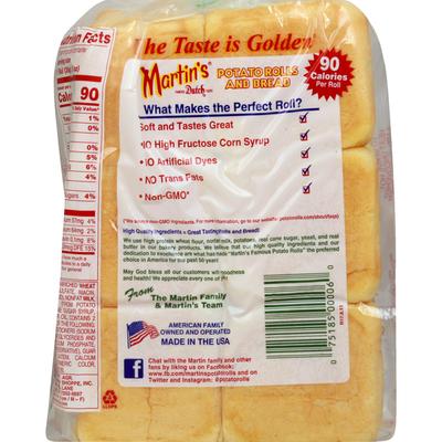 Martins Potato Rolls, Dinner