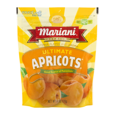 Mariani Ultimate Dried Apricots, 6oz Bag