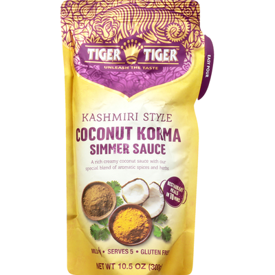 Tiger Tiger Simmer Sauce, Coconut Korma, Kashmiri Style, Mild